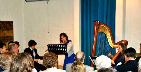fluit harp en publiek